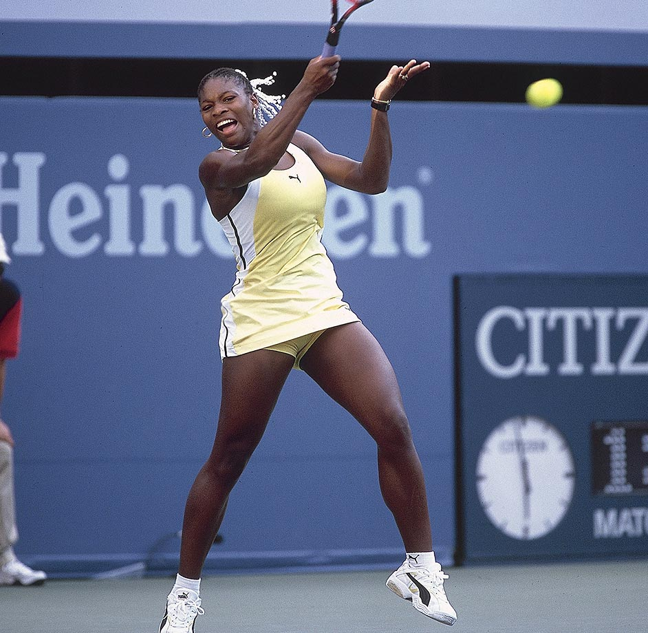 At 17 and in only her second professional season, Williams defeated 18-year-old Hingis, the world's top ranked player, to become the first black woman to win a Grand Slam title since Althea Gibson in 1958. In capturing the title, Williams beat three of the top four women in the world --Hingis, Lindsay Davenport (2) and Monica Seles (4).