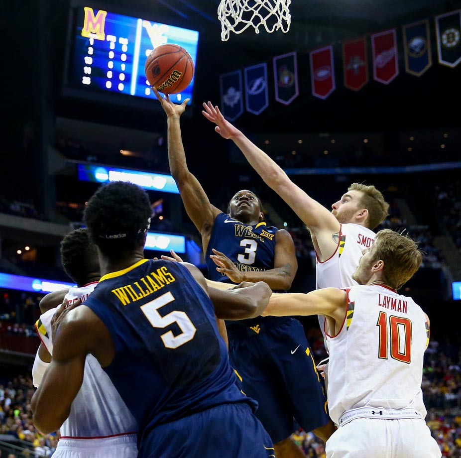 The Mountaineers have been able to overwhelm their first two opponents, Buffalo and Maryland. That won't be the case when they meet Kentucky in the Sweet 16. West Virginia fans can forget about winning the championship. Their team won't even make the Elite Eight. (Text credit: Michael Beller)