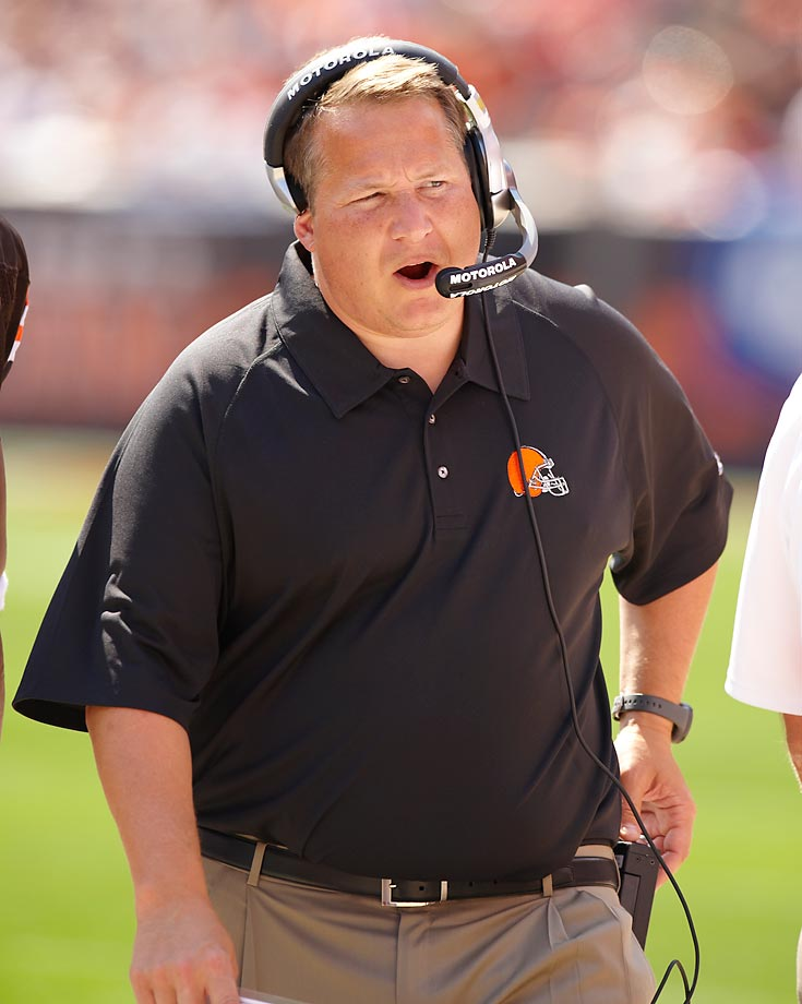 Mangini, one of the more prominent branches from Bill Belichick's coaching tree, started with a bang in 2006, leading the Jets to the playoffs. But after missing the postseason boat the following two seasons -- including a late-season collapse with Brett Favre at QB in 2008 -- Mangini was fired. Within weeks, he assumed the Browns' coaching reins and was also given the rare opportunity to hand-pick Cleveland's next general manager (George Kokinis). But a 5-11 season in 2009 changed everything. Kokinis was dropped for nebulous reasons, and then the Lerner family tapped Mike Holmgren to become the franchise czar, usurping any personnel powers that Mangini previously enjoyed. Mangini kept his coaching title in 2010, but another 5-11 campaign sealed his fate in Cleveland.