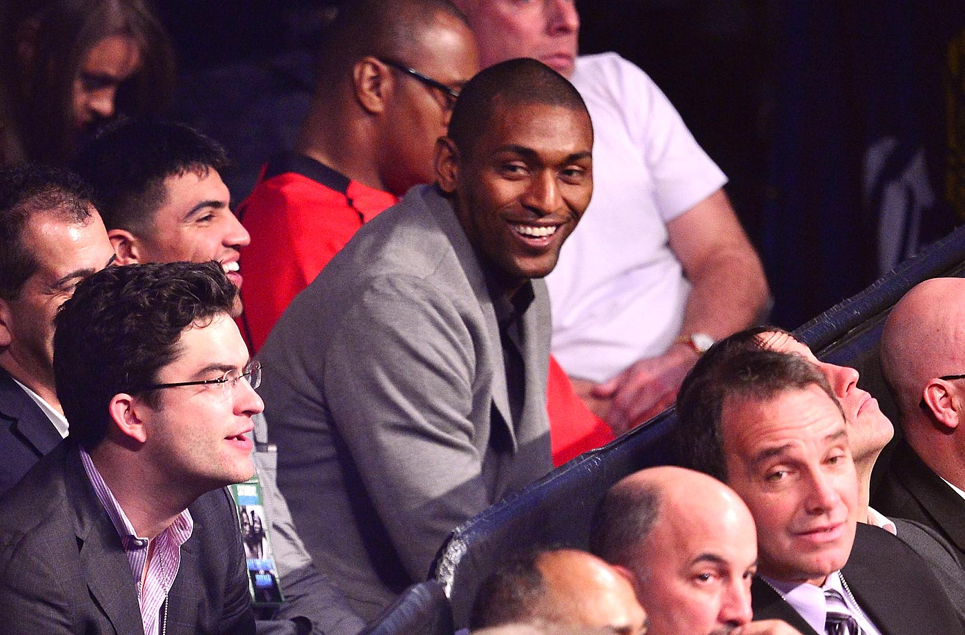 Metta World Peace attends the Paulie 'The Magic Man' Malignaggi vs Zab 'Super' Judah bout.