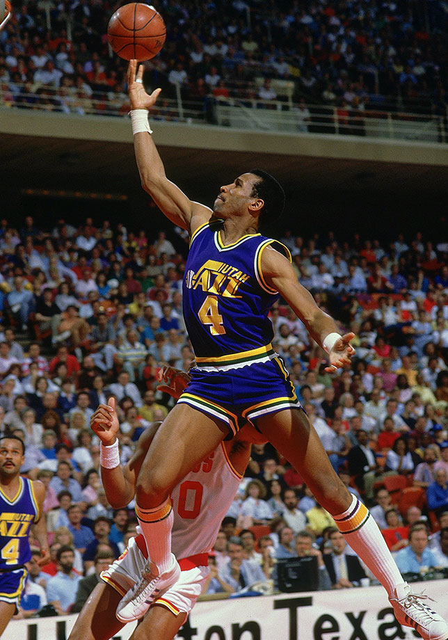 Dantley was one of the league's most explosive scorers for a long time, making six All-Star games and stringing together four straight 30-plus point-per-game seasons in the early '80s, twice leading the league in scoring. Though he almost never shot three-pointers, Dantley finished his career with an average of 24.3 points per game on 54% shooting, working creatively to get buckets from the midrange and around the rim. — Runners-up: Joe Dumars, Dolph Schayes