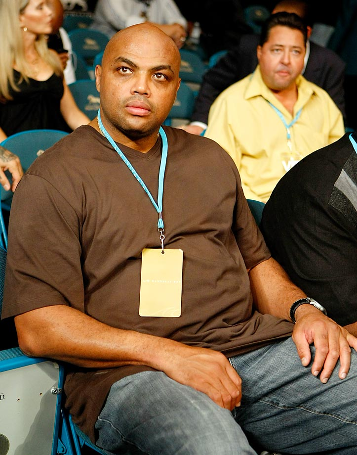 NBA analyst and former player Charles Barkley at the Floyd Mayweather Jr. vs. Juan Manuel Marquez event.