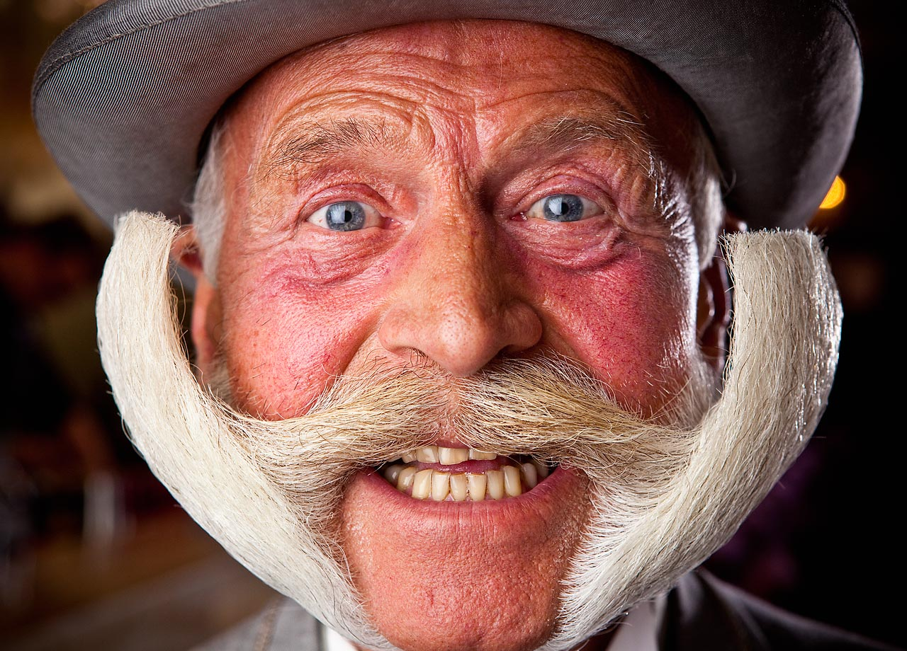 In the spirit of Movember, the month-long mustache-growing challenge that raises money for men's health causes, meet Karl-Heinz Hille from Berlin, Germany, who holds the Guinness World Record for the most wins in the Imperial partial beard category World Beard and Moustache Championships. He's won eight championships from 1999 to 2011 and is featured in the new Guinness World Records 2014.