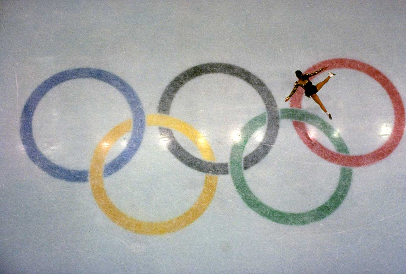 Kristi Yamaguchi in action during the women's singles free skating finals at the 1992 Olympics in Albertville, France