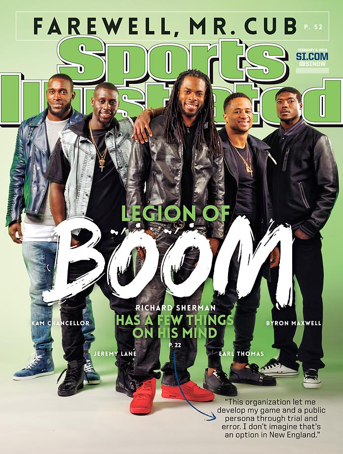 February 2, 2015 | Richard Sherman and 'Legion of Boom' appear on the cover of SI this week.