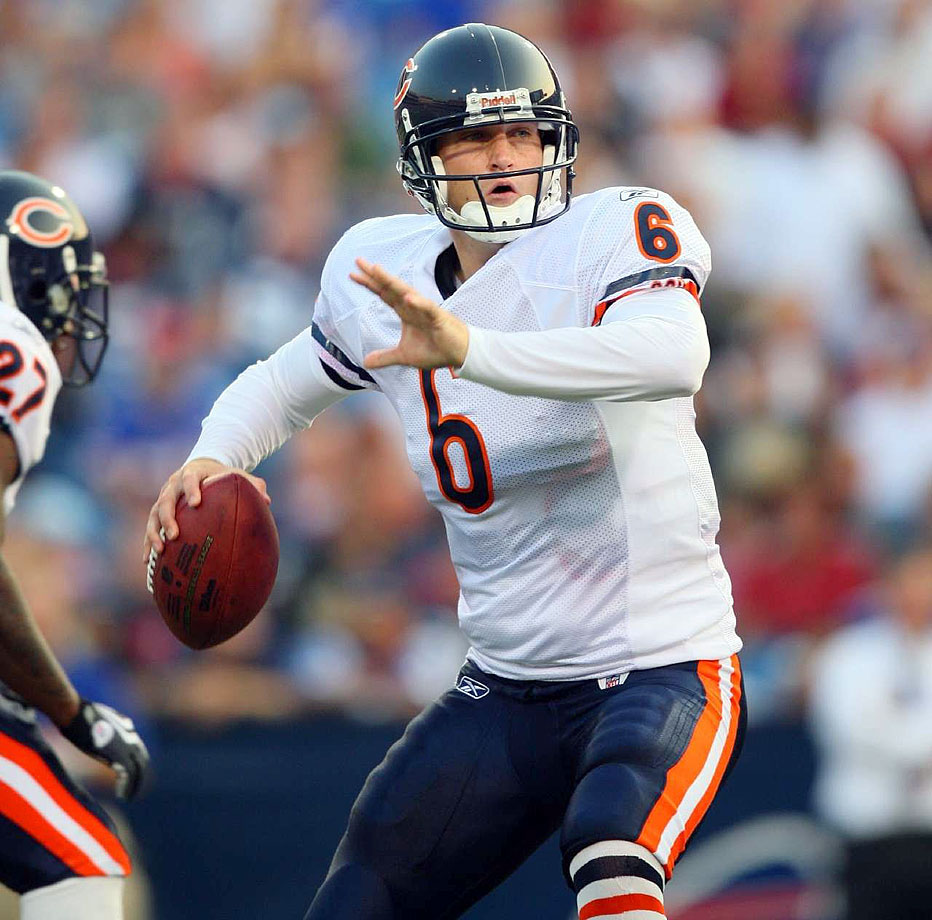 A number reserved for good-not-great kickers (Kevin Butler, Rolf Benirschke) and serviceable-not-good quarterbacks (Bubby Brister, Mark Sanchez). So it's Cutler in this spot almost by default. In his defense, Cutler likely will finish his career in the league's top 20 for career passing yards.