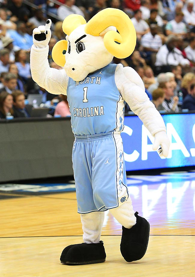 Rameses has a lot going for him, particularly in his lean body type and relentless attitude. He maintains a friendly demeanor but has imposing enough features to provoke a little fire. Our only two concerns: Are his horns too yellow and is the design too simple? (Text credit: Andrew S. Doughty/NextImpuseSports.com)