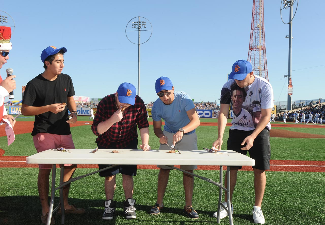 A Snickers eating contest, with a fork and knife, of course.