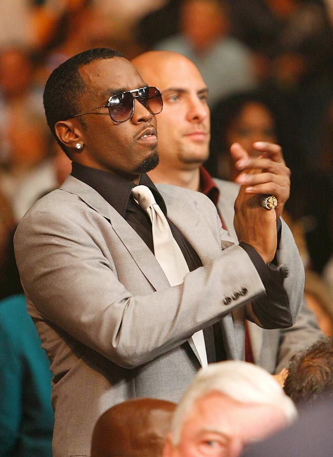 "Sean ""Diddy"" Combs at Floyd Mayweather vs. Juan Manuel Marquez."