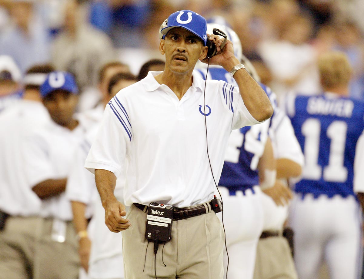 Dungy revitalized the forlorn Bucs in the 1990s, especially on defense, leading the club to four playoff appearances in six seasons (1996-2001). Despite the turnaround, Tampa Bay dropped him for Jon Gruden before the 2002 season -- a move that would result in the franchise's first Super Bow victory. But Dungy wouldn't be unemployed for long, as the Colts hired him to reverse the fortunes of a team long on offensive talent (Peyton Manning, Marvin Harrison, Edgerrin James) but short on defensive presence. The result: Dungy converted an also-ran into a 10-6 contender in 2002, while bringing stability to a franchise that would win its own Super Bowl in the 2006 season.