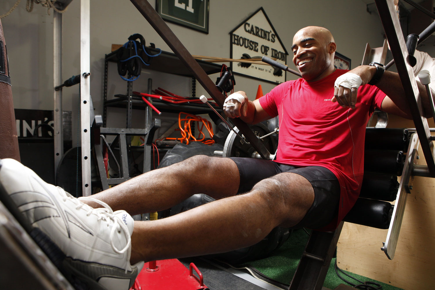 Former New York Giants running back Tiki Barber training to come back to the NFL in 2011 after abruptly retiring from the league in 2006.