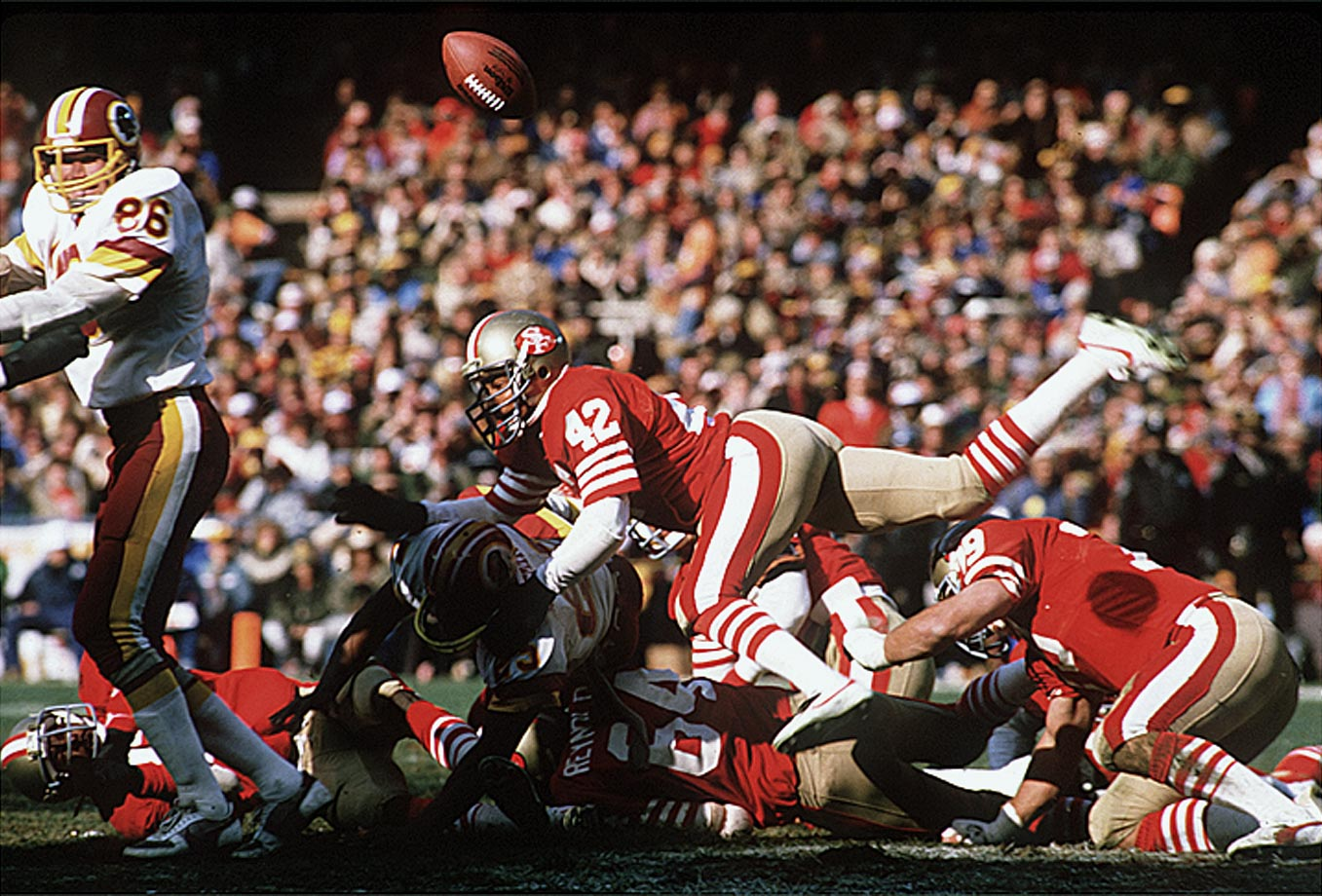 Lott's ball-hawking skills combined with his punishing style made him one of the greatest defensive backs in NFL history. His Credentials: 10-time Pro Bowl selection, eight-time All-Pro, four-time Super Bowl champion, named to NFL's All-Decade Team for the 1980s and 1990s, member of NFL's 75th anniversary team, tied for sixth all-time in career interceptions (63), ranked No. 11 on NFL's list of 100 greatest players, inducted into Hall of Fame in 2000. Others in Consideration: James Farrior (1997, Jets); Willie Roaf (1993, Saints); Leslie O'Neal (1986, Chargers); Mike Munchak (1982, Oilers); Ottis Anderson (1979, Rams)