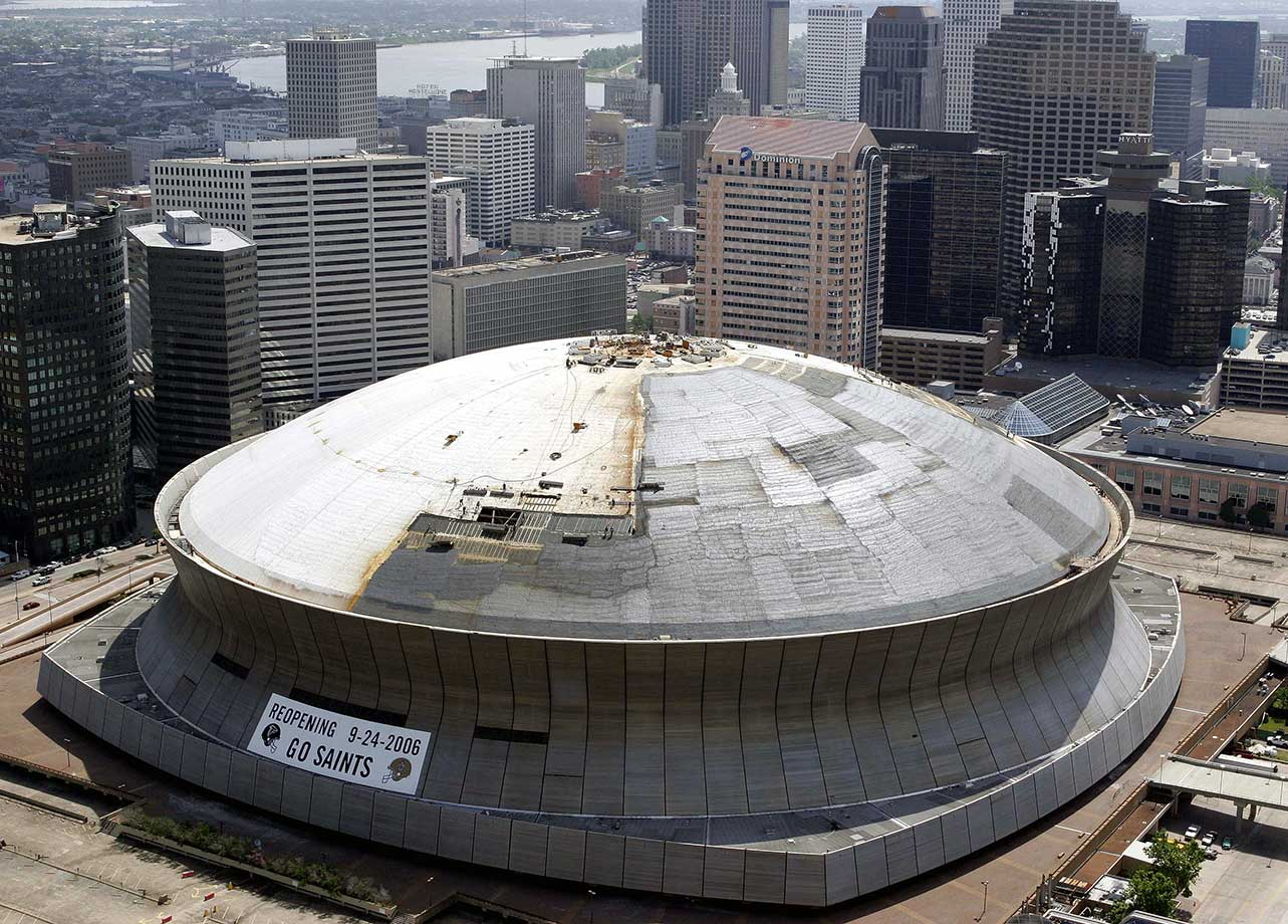 Dec. 30, 2005: The Saints announce they are coming back to the Superdome in 2006.
