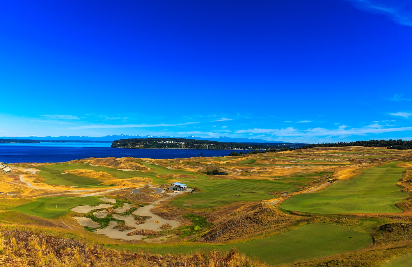 Designed by Robert Trent Jones, Jr., Chambers Bay overlooks the Puget Sound near Tacoma in University Place, Wash.