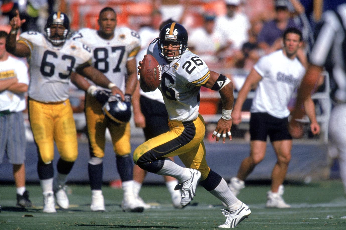 Woodson was a ballhawk and premier athlete. When he was healthy and on the field, Woodson was better than just about every defensive back to play the game. His Credentials: 11-time Pro Bowl selection, eight-time All-Pro, Super Bowl XXXV champion, named to NFL's All-Decade Team for the 1990s, named to NFL's 75th anniversary team, 1993 NFL Defensive Player of the Year, third all-time in interceptions (71), ranked No. 41 on NFL's list of 100 greatest players, inducted into Hall of Fame in 2009. Others in Consideration: Terrell Suggs (2003, Ravens); Willie Anderson (1996, Bengals); Jerome Bettis (1993, Rams); Herman Moore (1991, Lions); Marcus Allen (1982, Raiders); Isiah Robertson (1971, Rams)