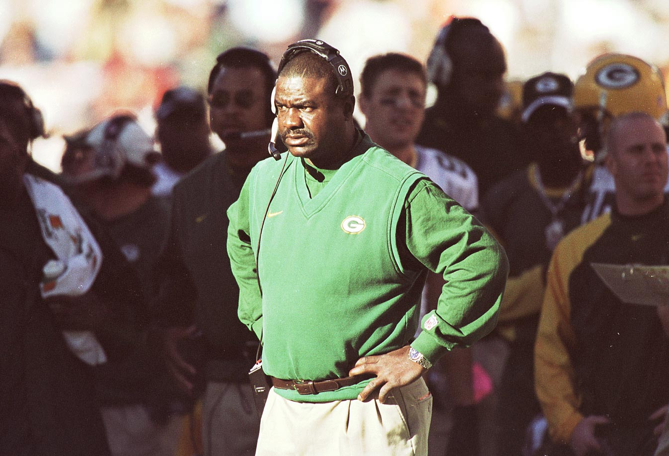 Rhodes, who directed the Eagles to two wild-card berths in 1995-96 before the club's regression in 1997-98, had the unfortunate task of following Mike Holmgren in Green Bay. In 1999, the Rhodes-led Packers finished a disappointing 8-8, prompting his dismissal after one season and ushering in the Mike Sherman era, where Green Bay captured four straight division titles from 2001 to '04. Unfortunately for Rhodes, the '99 season would be his last as an NFL head coach.