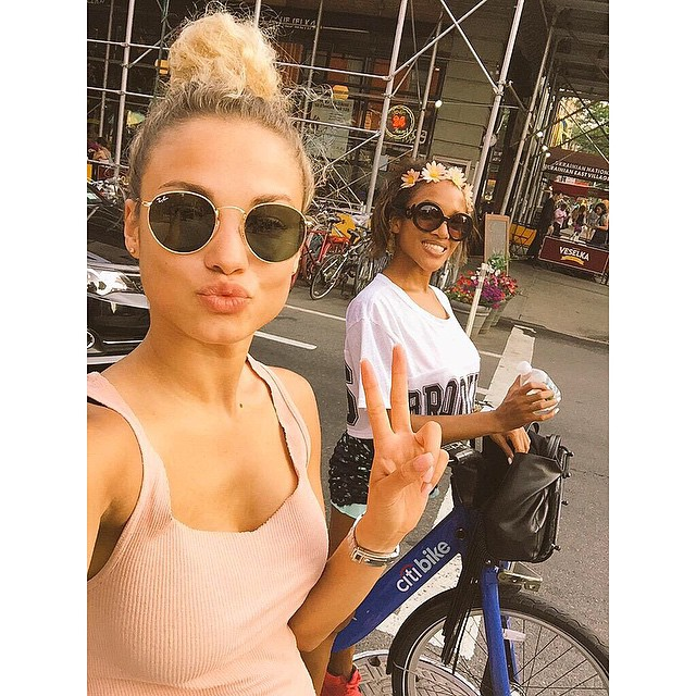Me and babe @taliawray enjoying the sun and riding bikes in newyorkcity couple of days ago