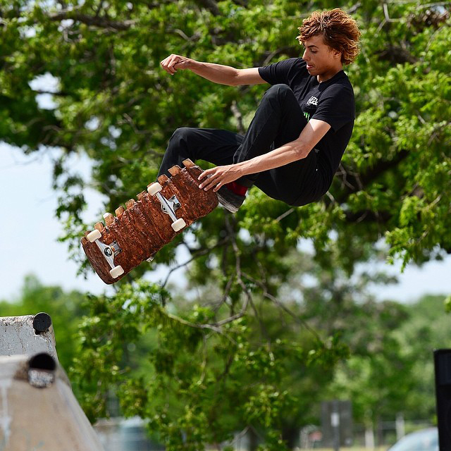 @currencaples getting a taste of the local BBQ. #xgamesaustin (Photo: @phil_ellsworth)