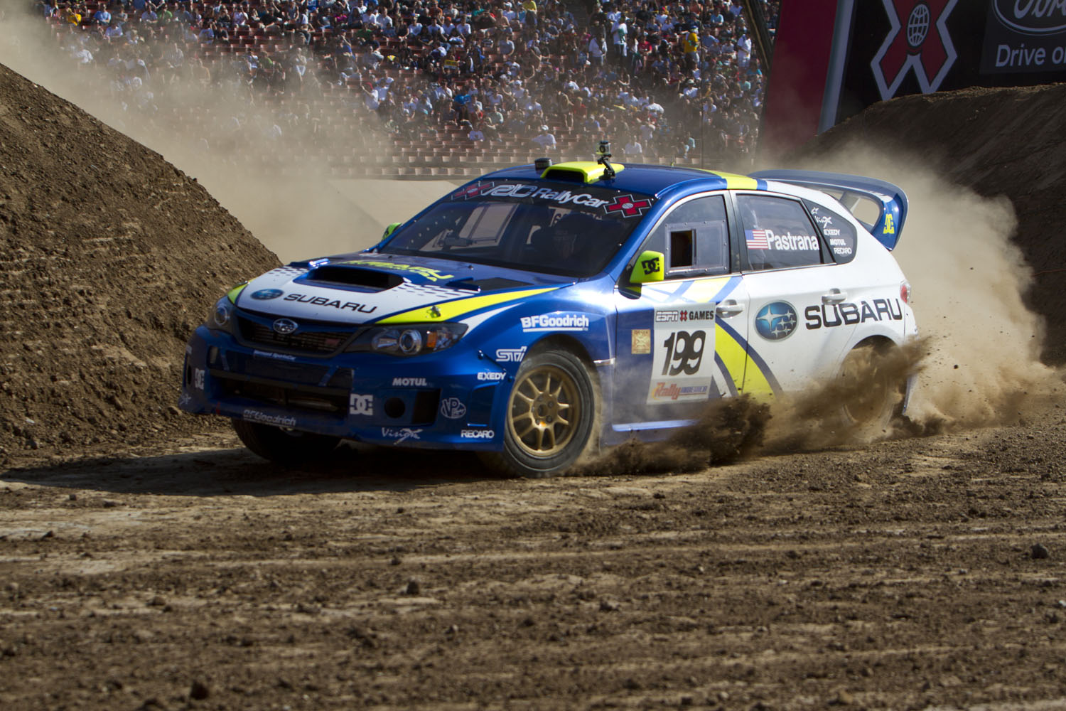 Travis Pastrana competes during the Rally Car event at X Games 16 on July 31, 2010 in Los Angeles, California.