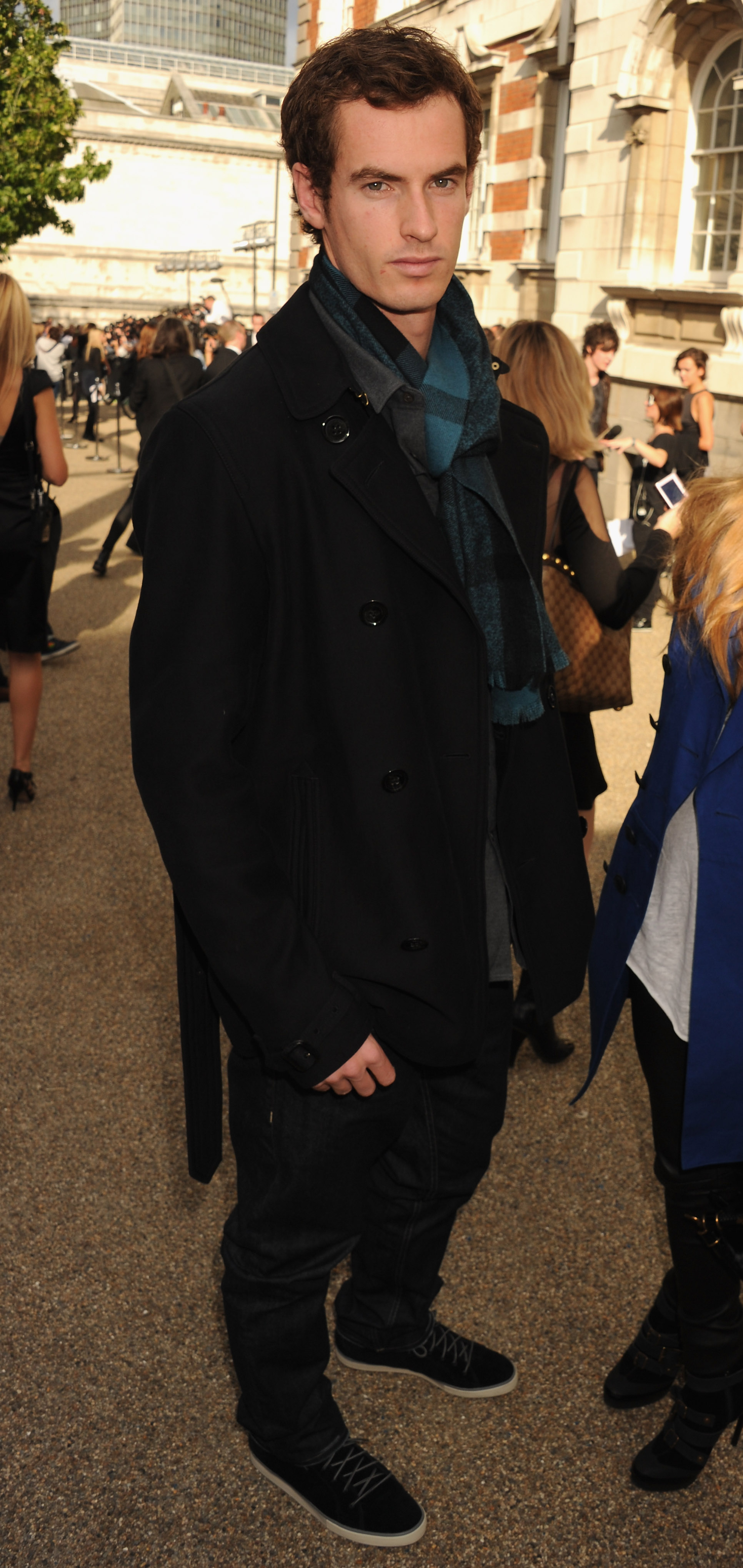 A chic Murray at a Burberry fashion show.