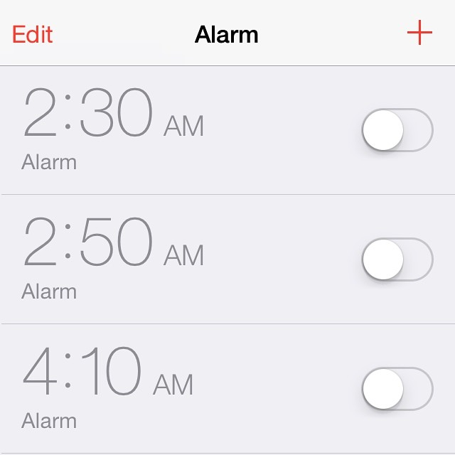 What wake up calls on our shoot look like.