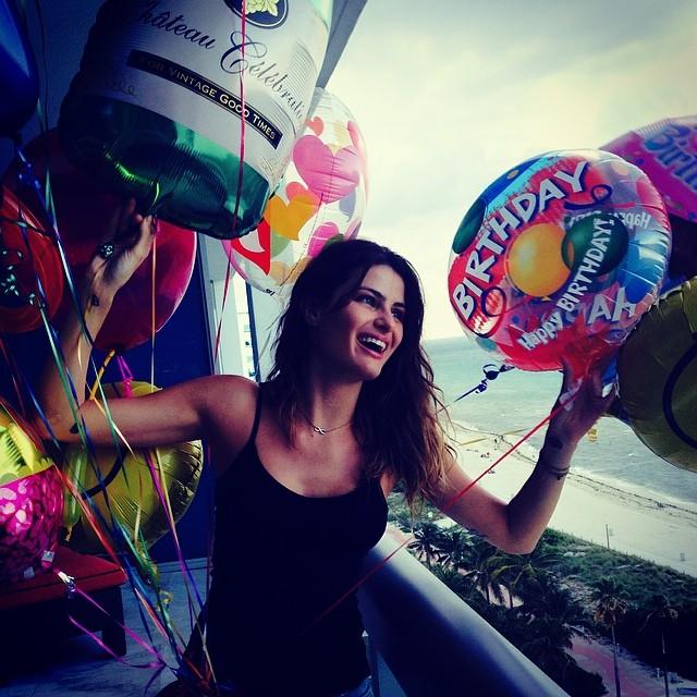 Its my birthday @womenmanagementny thank you so much for my balloons. #Womenmodelny #mybday