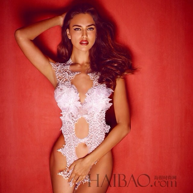 Irina Shayk for La Clover,Can't wait to see you in Spain soon! @irinashayk @alikavoussi @aimerofficial