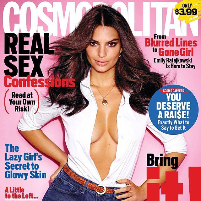So excited to share my first @Cosmopolitan cover! Get a first look at my interview: cosmopolitan.com/emily On stands 10/7!