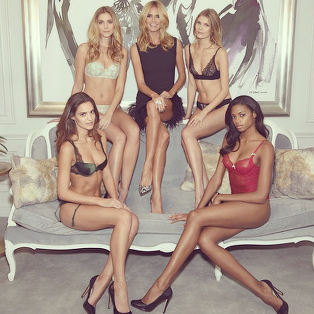 Great morning sharing the first collection of @HeidiKlumIntimates! Can't wait for you to see the whole collection! #HeidiKlumIntimates