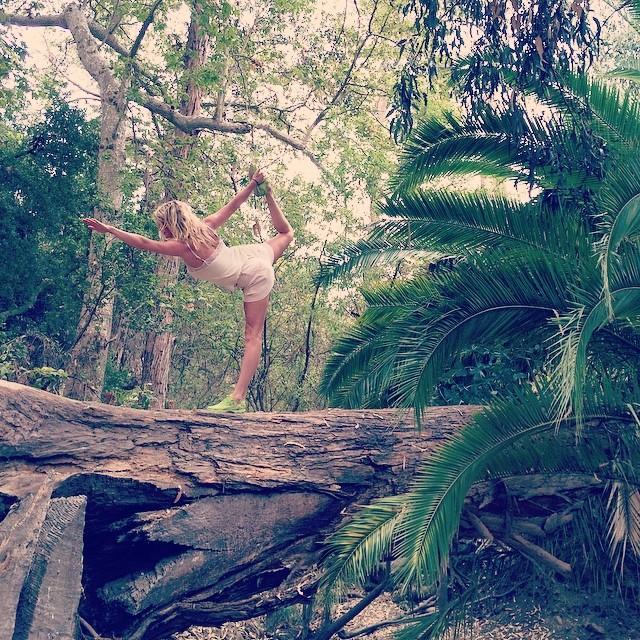 Annnnd stretch. Natures Balance beam