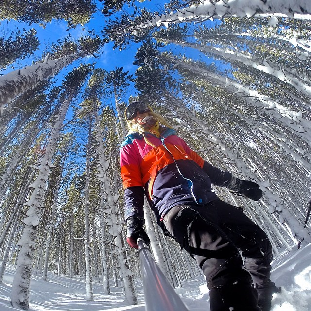 Over the powder, and through the woods to grandmothers house I Go...Pro! #GoProChat #shred