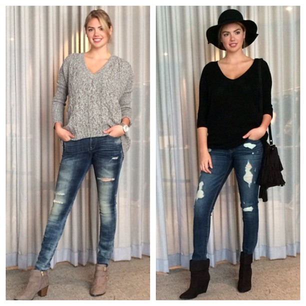 I'm so excited to be in #SanFrancisco shooting #ExpressJeans. Which look do you guys think I should shoot next for the campaign? #ExpressFitting