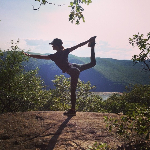 Happy place #hike #yoga #nature #peak #view #mountain #trails #green #organic #peace #serenity #clarity