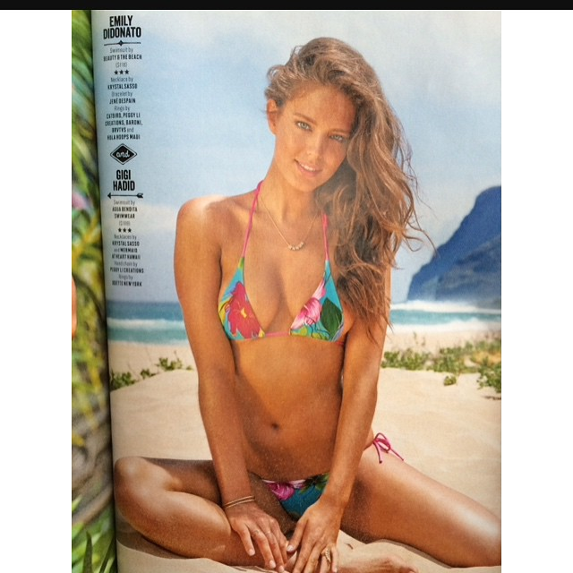 It's on news stands!!! The new @si_swimsuit is out! So excited! I'll be at Herald Square all day today celebrating! #siswim #swimcity @yutsai88 @jrugg8 @allanface @mj_day @ja_neyney @darciebaum @imgmodels @sbermood