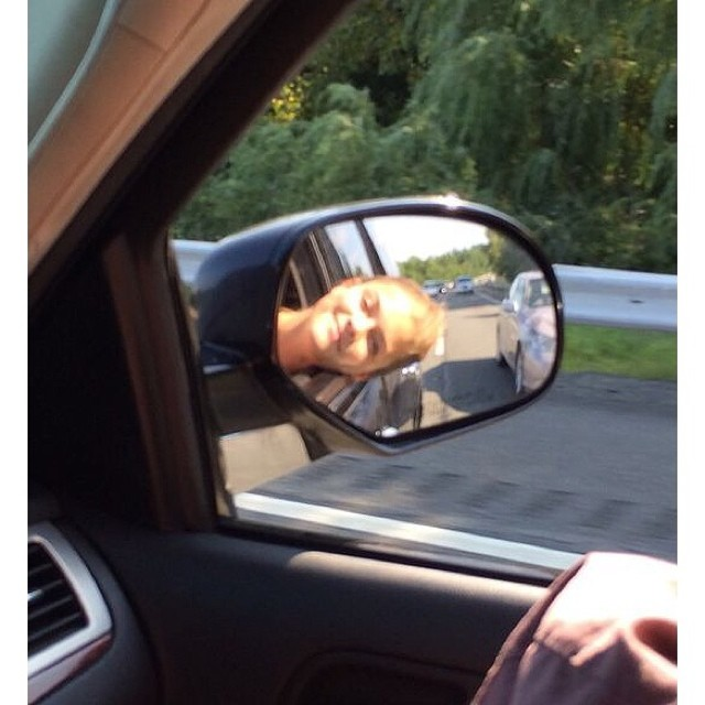 Life is a highway #teletubbyhappyface #nohairdontcare