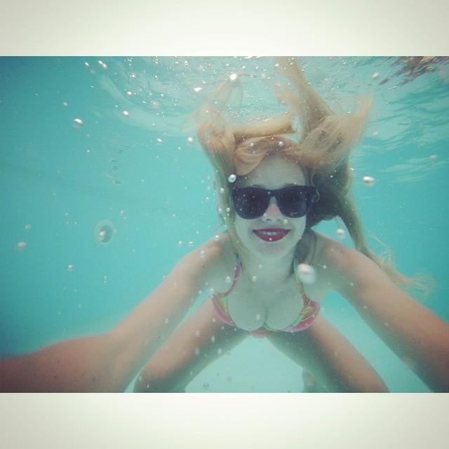 Underwater selfie #holiday #gopro #underwater #snorkels #lol