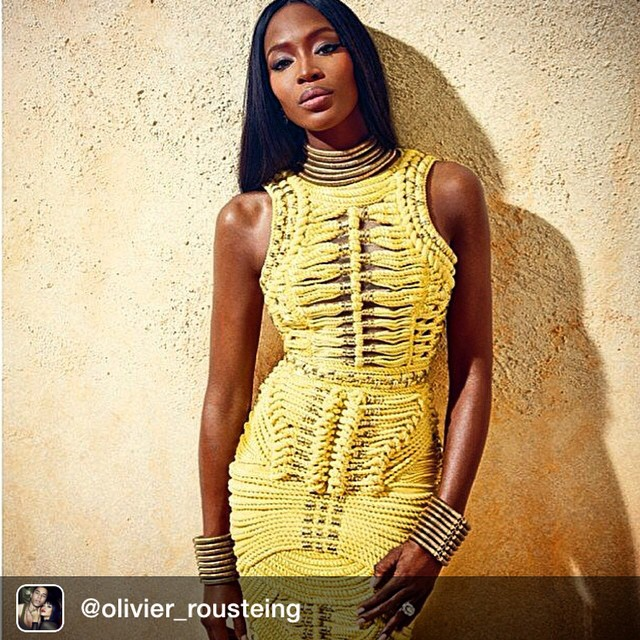 BEAUTY AT ITS FINEST Repost from @olivier_rousteing THE BALMAIN ARMY @iamnaomicampbell #25days #balmainarmy #balmainiac #glamazone