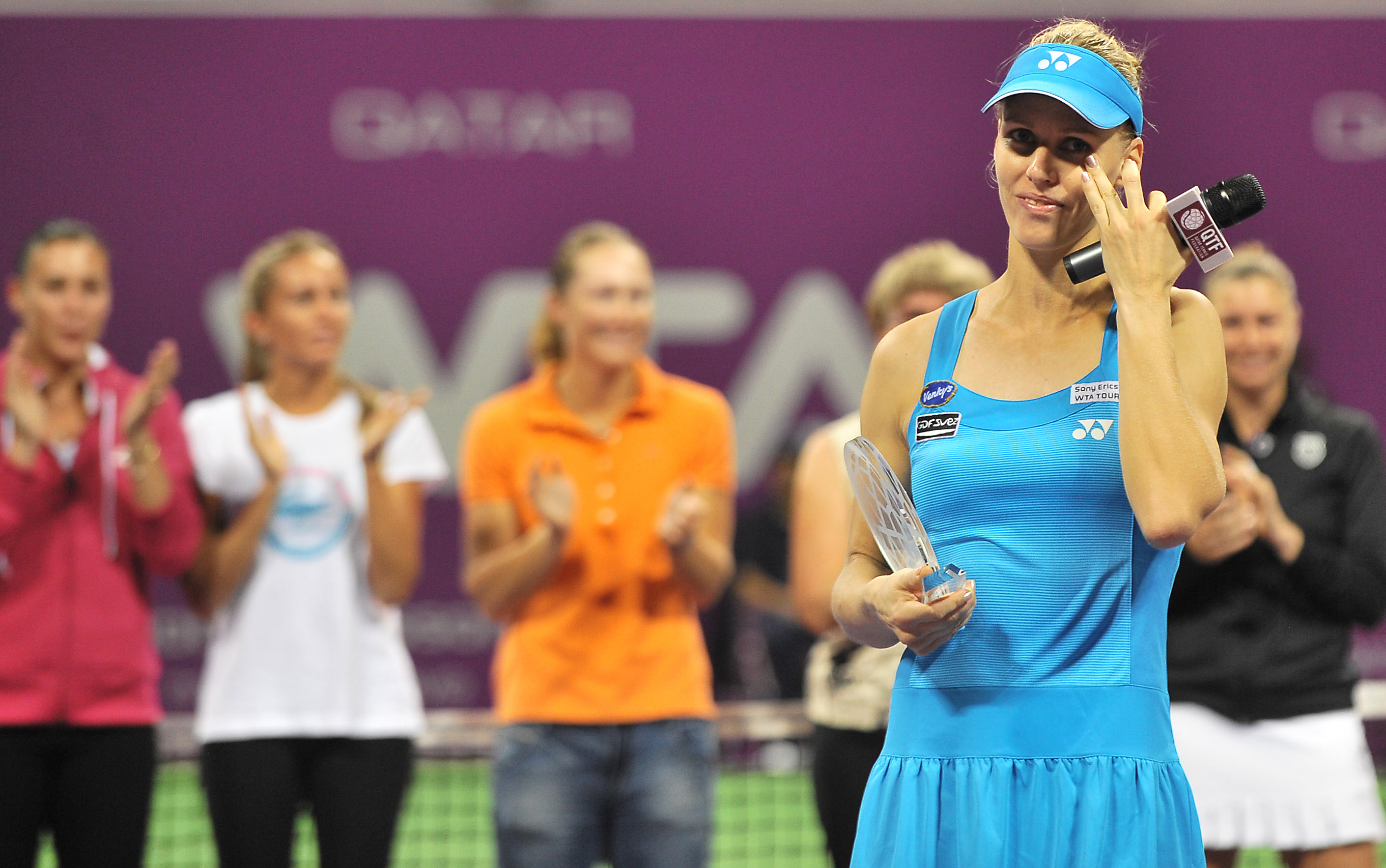 Elena Dementieva stunned everyone by announcing her retirement.