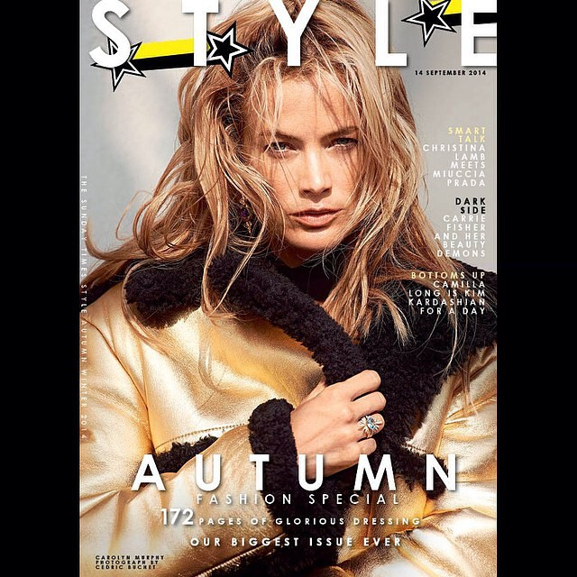 Today's cover of @TheSTStyle #SundayTimesStyle #IMG #fFashionSpecial by #CedricBuchet @romyglow #KevinRyan