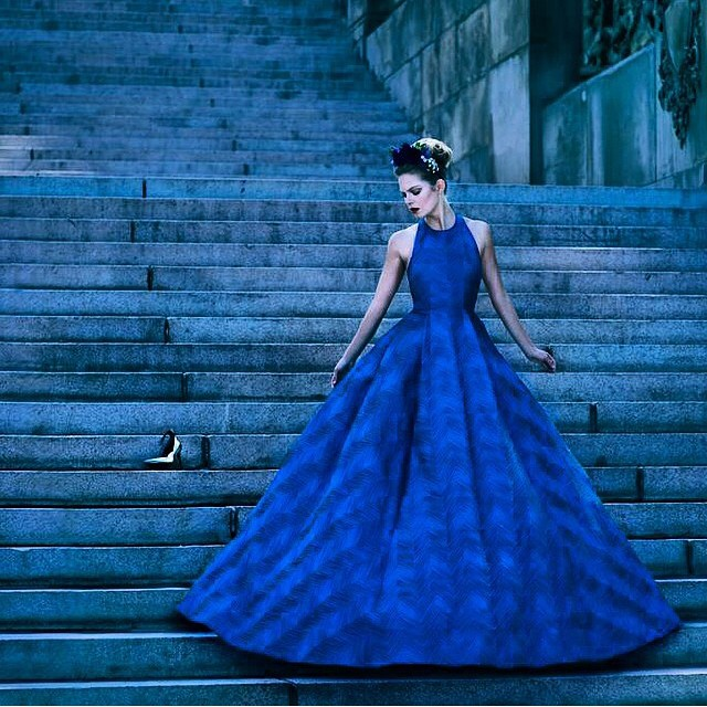 New pic in @AVENUEinsider channeling Cinderella in my @aliceandolivia gown