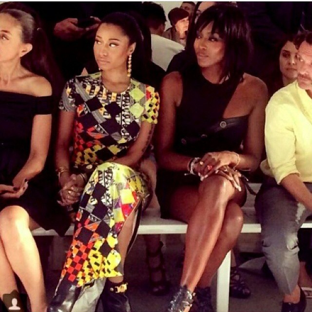#versus #sitting with pretty @nickiminaj #greatnight