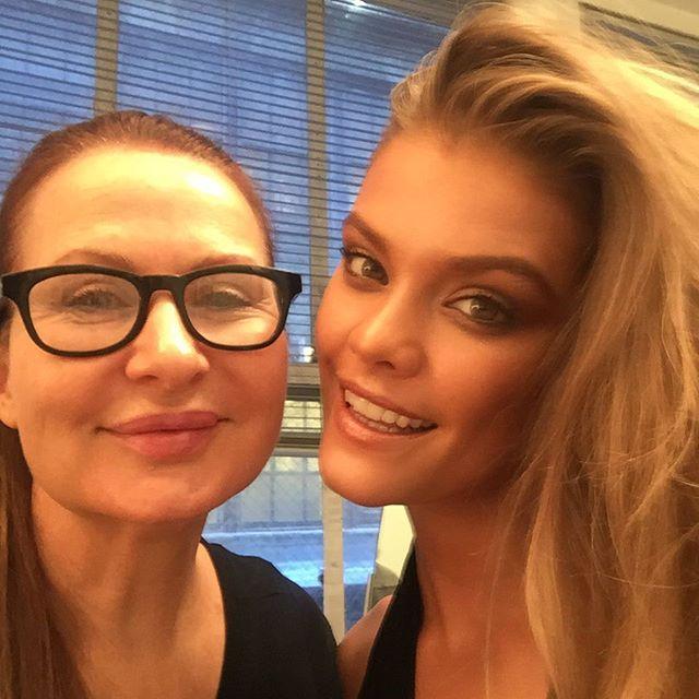 #bts from today's shoot with the gorgeous @ninaagdal #photographer @ruvenafanador #hair @felixfischerhair #makeupbyme #styling @isabeldupre #asst @frankelfresh #nails @nailferri #NinaAgdal #makeup #mua #JoanneGair using @edwardbess #NYC -