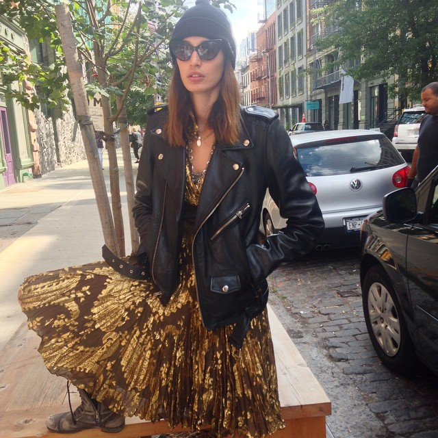 We ran into our very own @kenzafourati on #Bondstreet today in #NYC #model obsession