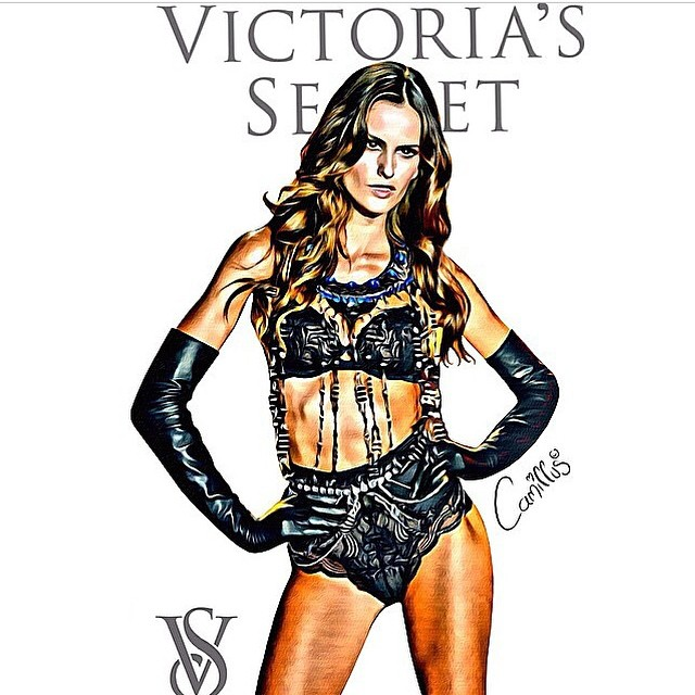 I love my fans!! Thank you for dedicating your time!! I appreciate it so much!! It makes me feel happy and special!  #love #care #cartoon #ofme #ilove #myfans #victoriassecret #runway
