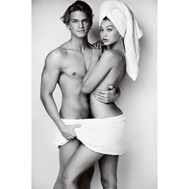 TOWEL SERIES BY MARIO TESTINO x @codysimpson First couple #TowelSeries!! We love you @mariotestino, thank you!