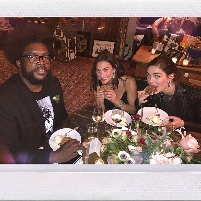 It's COOKIE time for Hilary Rhoda + The Roots' QuestLove. #IMGirls