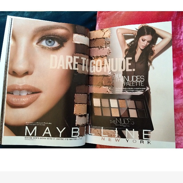 This morning I spy the new @maybelline #thenudes ad in the November issue of @glamourmag #maybelline