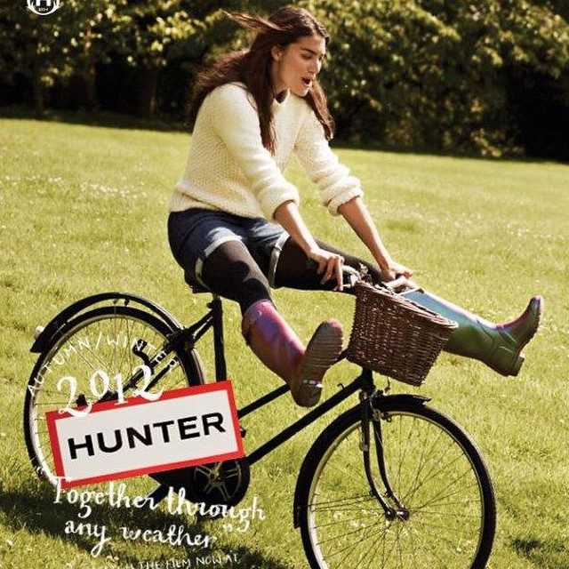#tbt Hunter Campaign 2012. What an awesome shoot! @hunterboots #laurenmellor #togetherthroughanyweather