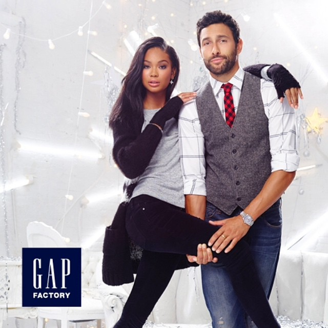 Me and @nmills83 from the @gapfs campaign #ExclusivelyStyled Holiday Collection, in stores today !