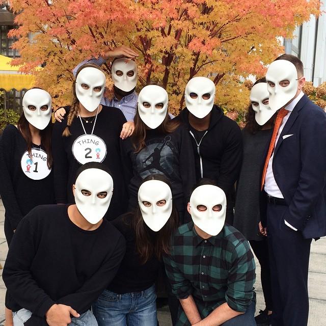 Medico della peste, Team IMG gives good FACE. Happy Halloween! #NoFilter